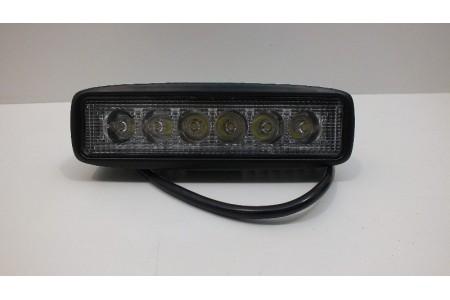 Фара светодиодная P003 18W 6 диодов по 3W выпуклая линза оптовая продажа