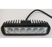 Фара светодиодная P003 18W 6 диодов по 3W (габаритные размеры 45*57*160мм; цветовая температура 6000K; дальний свет) P003 18W spot
