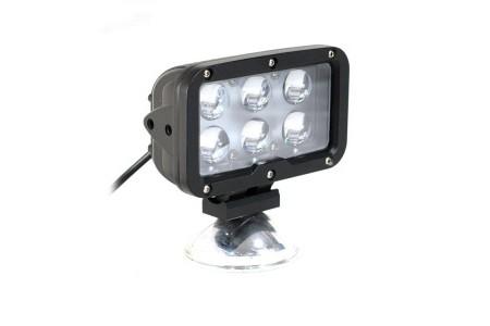 Фара светодиодная P017 60W 6 диодов по 10w (габаритные размеры 180*135*80мм; цветовая температура 6000K; 60° ближний свет, 30° дальний свет) P017 60W оптовая продажа