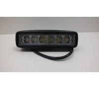 Фара светодиодная P003 18W 6 диодов по 3W (выпуклая линза) (габаритные размеры 45*57*160мм; цветовая температура 6000K; сверх-дальний свет) P003 18W 4D spot