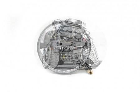 Фара светодиодная P032 40W (габаритные размеры 160*160*95мм) P032 (LBS52 30W) оптовая продажа