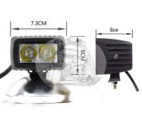 Фара светодиодная P018 8W 2 диода по 4w габаритные размеры 73*50*60мм) P018 8W