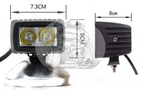 Фара светодиодная P018 8W 2 диода по 4w габаритные размеры 73*50*60мм) P018 8W оптовая продажа