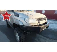 """Бампер """"Т-34"""" передний усиленный с кенгурином на УАЗ Патриот"""