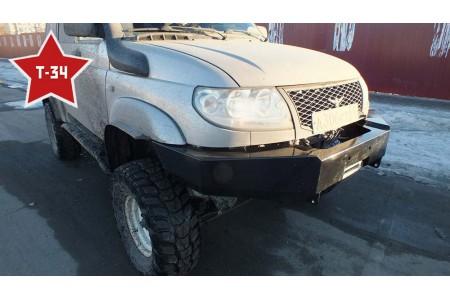 """Бампер """"Т-34"""" передний усиленный с кенгурином на УАЗ Патриот оптовая продажа"""