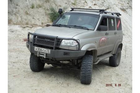 """Бампер """"Т-34-2"""" передний усиленный на УАЗ Патриот оптовая продажа"""