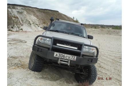 """Бампер """"Т-34-3"""" передний усиленный на УАЗ Патриот оптовая продажа"""