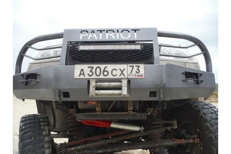 """Кит-набор для самостоятельной сварки и окраски бампер """"Т-34-4"""" передний усиленный с кенгурином на УАЗ Патриот, сталь 3, 4, 6 мм оптовая продажа"""