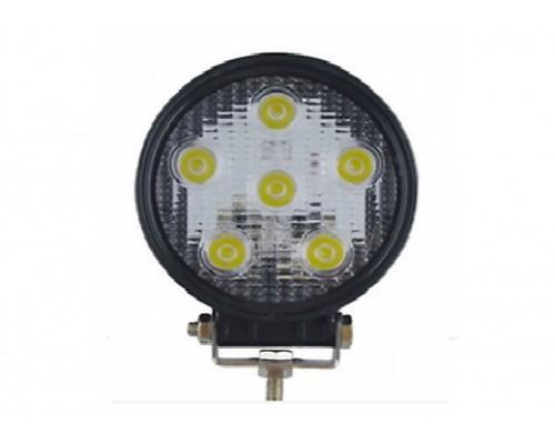 Фара дополнительного освещения LED 18W (6 сверх ярких диодов, мощность одного 3Ватт) круглая форма.