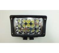 Фара дополнительного освещения LED 45W X004 (15 сверх ярких диодов, мощность одного 3Ватт ) прямоугольная, ближний свет оптовая продажа