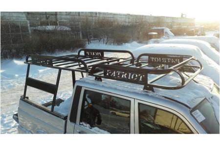 """Багажник на УАЗ Патриот Пикап """"Навигатор"""" с каркасом кунга оптовая продажа"""