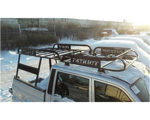 """Багажник на УАЗ Патриот Пикап """"Навигатор"""" с каркасом кунга"""