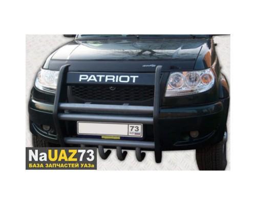"""Кенгурин на УАЗ Патриот """"Приоритет"""" с защитой двигателя"""