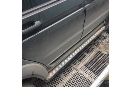 Подножки на УАЗ Патриот силовые с креплением к раме, с возм. подъёма hi-jack оптовая продажа