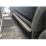 Подножки на УАЗ Патриот силовые с креплением к раме, с возм. подъёма hi-jack с защитой бензобаков оптовая продажа