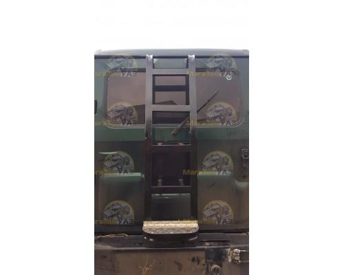 Лестница на УАЗ Хантер вместо запаски, усиленная, с алюминиевой подножкой
