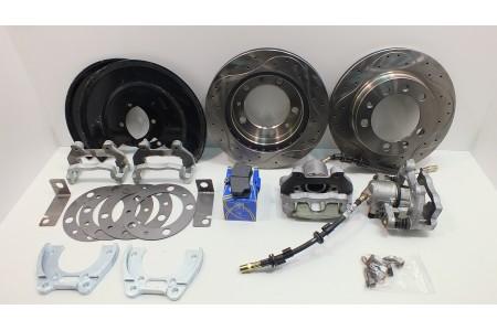 Дисковые тормоза с перфорированными дисками УАЗ задний мост Тимкен/Спайсер с суппортом ВАЗ-2112 оптовая продажа