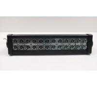 Фара светодиодная CH008 72W 24 диода по 3W (габаритные размеры 83*82*115*415мм; цветовая температура 6000K; дальний свет) 2 контакта, боковое крепление, потребляемый ток 12/24V CH008 72W SPOT оптовая продажа