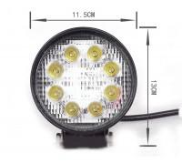 Фара светодиодная CH007 24W 8 диодов по 3W (габаритные размеры 115*130*50мм; цветовая температура 6000K; дальний свет) круглая, 2 контакта, нижнее крепление, потребляемый ток 12/24V CH007 24W