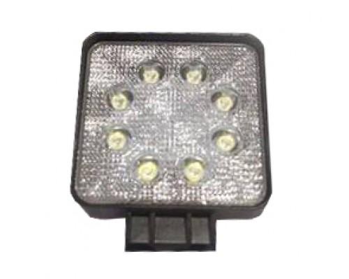 Фара светодиодная CH006 24W 8 диодов по 3W (габаритные размеры 108*138*50мм; цветовая температура 6000K; дальний свет) квадратная, 2 контакта, нижнее крепление, потребляемый ток 12/24V CH006 24W