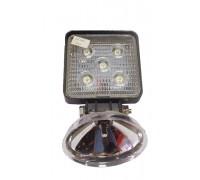 Фара светодиодная CH006 15W 5 диодов по 3W (габаритные размеры 108*138*40мм; цветовая температура 6000K; дальний свет) квадратная, 2 контакта, нижнее крепление, потребляемый ток 12/24V CH006 15W
