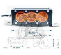 Фара светодиодная CH052 30W 3 диода по 10W (габаритные размеры 76*58*103*155мм; цветовая температура 6000K; свет комбинированный янтарный) CH052 30W Y