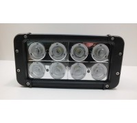 Фара светодиодная CH054 80W 8 диодов по 10W (габаритные размеры 91*95*200мм; цветовая температура 6000K; свет комбинированный) CH054 80W