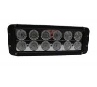Фара светодиодная CH054 120W 12 диодов по 10W (габаритные размеры 91*95*280мм; цветовая температура 6000K; свет комбинированный) CH054 120W оптовая продажа