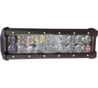 Фара светодиодная CH019B 54W 4D 18 диодов по 3W (выпуклая линза) (габаритные размеры 65*80*230мм; цветовая температура 6000K; сверх-дальний свет) CH019B 54W 4D