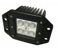 Фара светодиодная CH040 18W 6 диодов по 3W (габаритные размеры 112*90*80мм; цветовая температура 6000K; дальний свет) CH040 18W