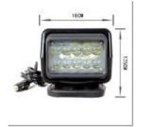 Фароискатель CH015 12V 50W LED с дистанционным управлением Черный (цоколь H3) 180*180*175mm на магните CH015 50W LED