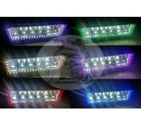 Фара светодиодная CH008 300W 100 диодов по 3W (габаритные размеры 83*82*115*1385мм; цветовая температура 6000K; дальний свет) 3 контакта, боковое крепление, дополнительные многоцветные светодиоды, пульт дистанционного управления, потребляемый ток 12/24V C