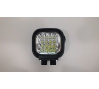 Фара светодиодная X002 48W 16 диодов по 3W (габаритные размеры 155*125*85мм; цветовая температура 6000K; 60° ближний свет, 30° дальний свет) X002 48W