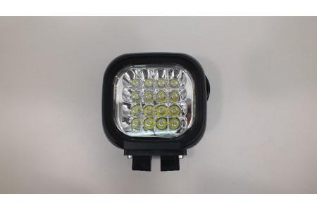 Фара светодиодная X002 48W 16 диодов по 3W (габаритные размеры 155*125*85мм; цветовая температура 6000K; 60° ближний свет, 30° дальний свет) X002 48W оптовая продажа