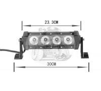 Фара светодиодная CH029B 40W 4 диода по 10W (габаритные размеры 110*90*75*300мм; цветовая температура 6000K; дальний свет) нижнее крепление CH029 40W
