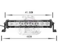 Фара светодиодная CH029B 80W 8 диодов по 10W (габаритные размеры 110*90*75*480мм; цветовая температура 6000K; дальний свет) нижнее крепление CH029 80W