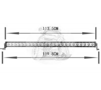 Фара светодиодная CH029B 240W 24 диода по 10W (габаритные размеры 110*90*75*1198мм; цветовая температура 6000K; дальний свет) нижнее крепление CH029 240W оптовая продажа