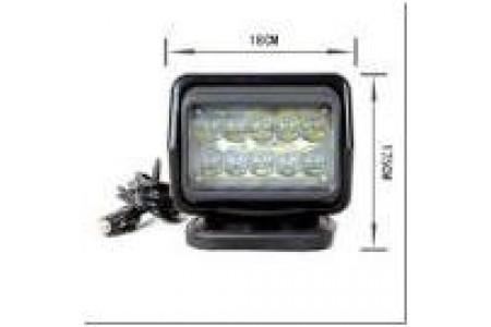 Фароискатель CH015 12V 50W LED с дистанционным управлением Белый (цоколь H3) 180*180*175mm на магните CH015 50W LED оптовая продажа