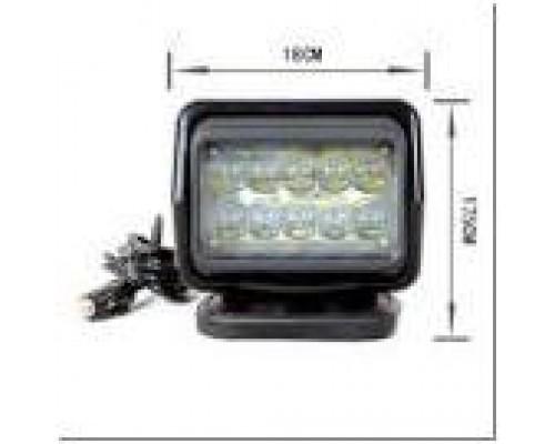 Фароискатель CH015 12V 50W LED с дистанционным управлением Белый (цоколь H3) 180*180*175mm на магните CH015 50W LED