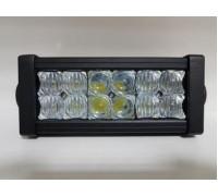 Фара светодиодная CH008 36W COMBO 12 диодов по 3W (габаритные размеры 83*82*115*260мм; цветовая температура 6000K; комбинированный свет) 2 контакта, боковое крепление, потребляемый ток 12/24V CH008 36W COMBO