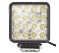 Фара светодиодная CH006 48W 16 диодов по 3W (габаритные размеры 108*138*70мм; цветовая температура 6000K; дальний свет) квадратная, 2 контакта, нижнее крепление, потребляемый ток 12/24V CH006 48W оптовая продажа