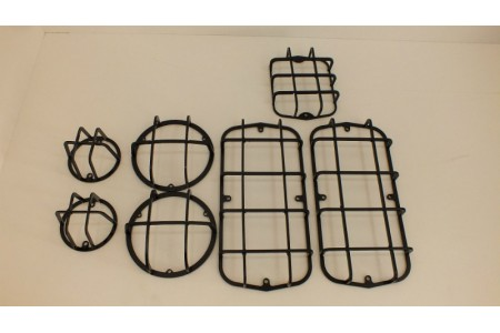 Защита фонарей на УАЗ 469, 452, Буханка, черный (Комплект 7 предметов) оптовая продажа